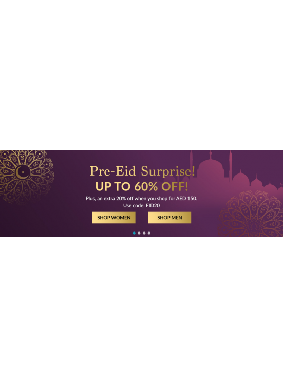 Pre-Eid Surprise - Up To 60% Off