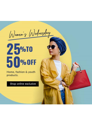 Women's Wednesday - 25% To 50% Off