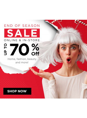 End of Season Sale - Up To 70% Off