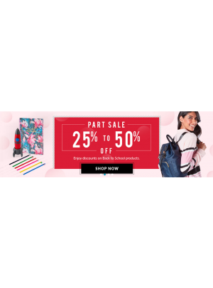 25% To 50% Off on Back To School Products