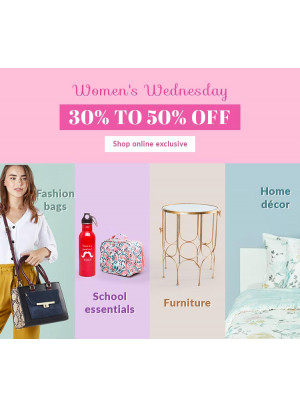 Women's Wednesday - 30% To 50% Off