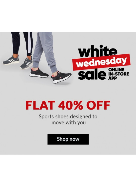 White Wednesday Sale - Flat 40% Off