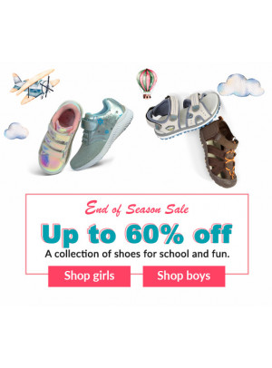 End of Season Sale - Up to 60% Off