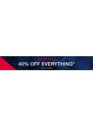 Super Sale 40% Off