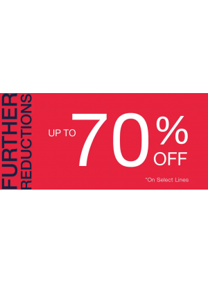 Further Reductions - Up To 70% Off