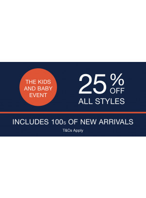 25% Off on All Kids & Baby Styles