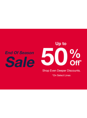 End of Season Sale - Up To 50% Off