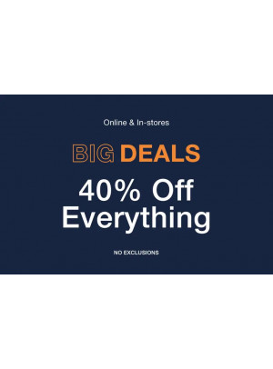Super Sale - Up To 40% Off