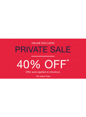 Private Sale - 40% Off