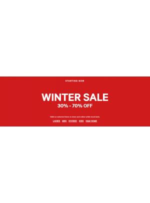 Winter Sale 30% - 70% Off