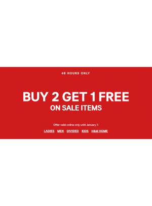 Buy 2 Get 1 Free Offer