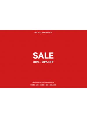 Sale 30% - 70% Off
