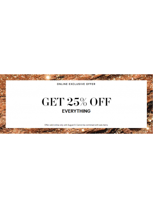 25% Off on Everything