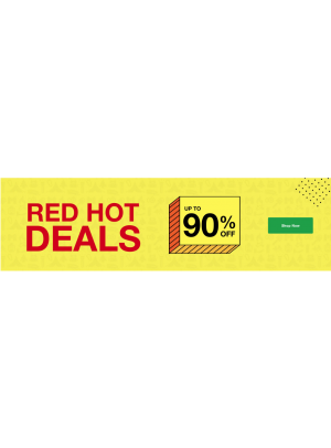 Red Hot Deals - Up To 90% Off
