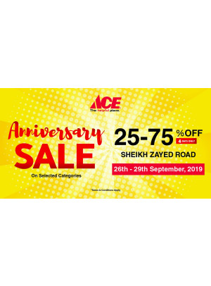 Anniversary Sale 25-75% Off