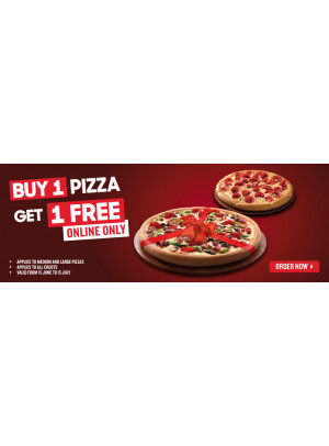 اشتر 1 بيتزا واحصل على 1 مجاناً