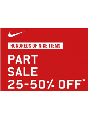 25% to 50% off on Nike Items
