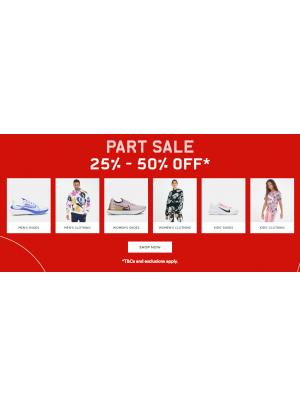 Part Sale 25% - 50%